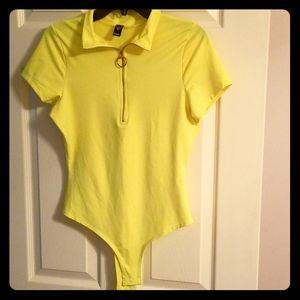 Yellow Bodysuit Sz XL
